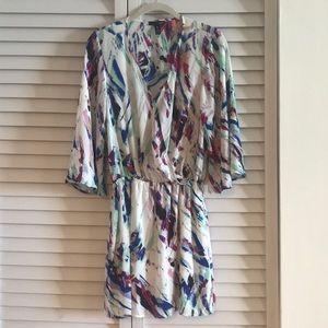 Paint brush print dress from Aqua
